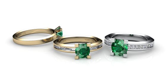 Belgravia. 18k gold emerald ring