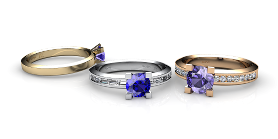 Belgravia. 18k gold tanzanite ring