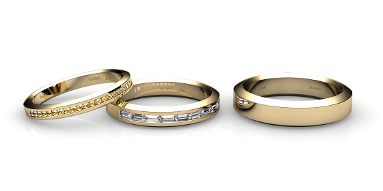 Yellow gold wedding rings and bands alexandre rosenberg 18k yellow gold wedding ring junglespirit Choice Image