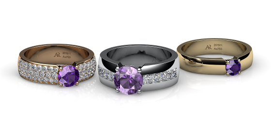 Galatea. Prongs-set amethyst ring