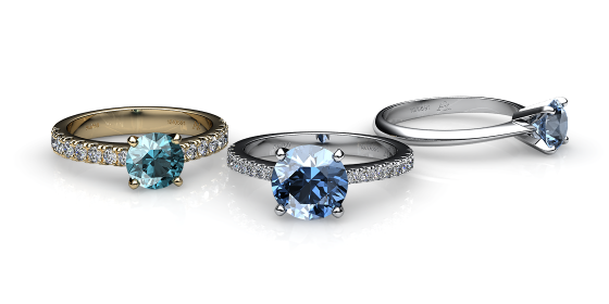 Betelgeuse. Prong-set aquamarine solitaire ring
