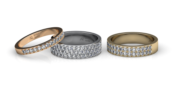Ariadne. Pave-set diamond wedding ring