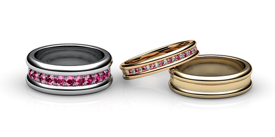 Florence. Pave-set ruby wedding ring
