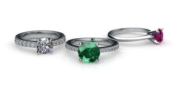 Betelgeuse. Prong-set platinum solitaire ring