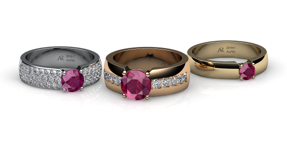 Galatea. Prongs-set ruby ring