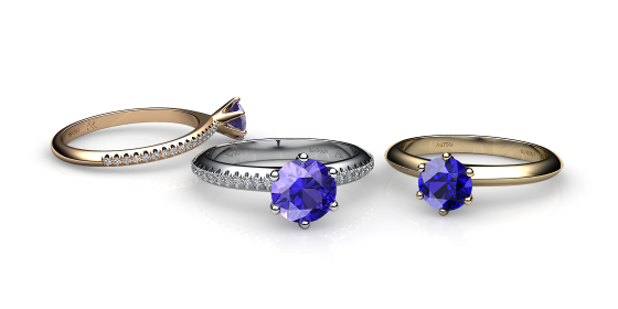 Stella. 6 prongs solitaire tanzanite ring