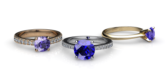 Betelgeuse. Prong-set tanzanite solitaire ring