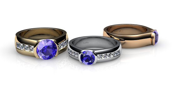 Constance. Semi-bezel set tanzanite ring
