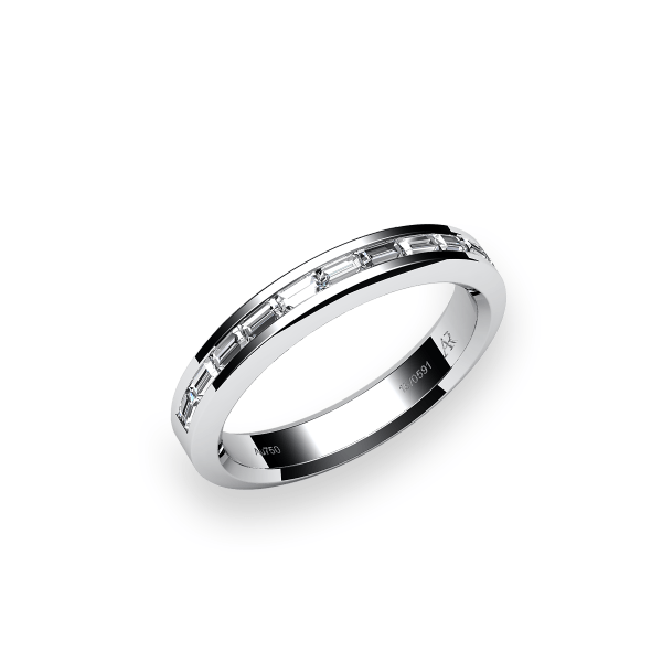 Belgravia. Platinum wedding ring