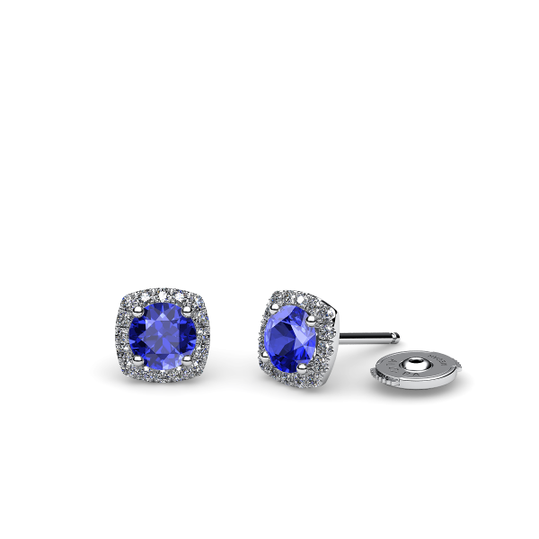 Grace. Diamond halo earrings