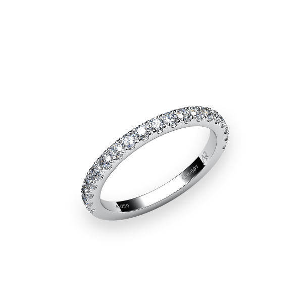 Grace. Pave-set white gold wedding ring
