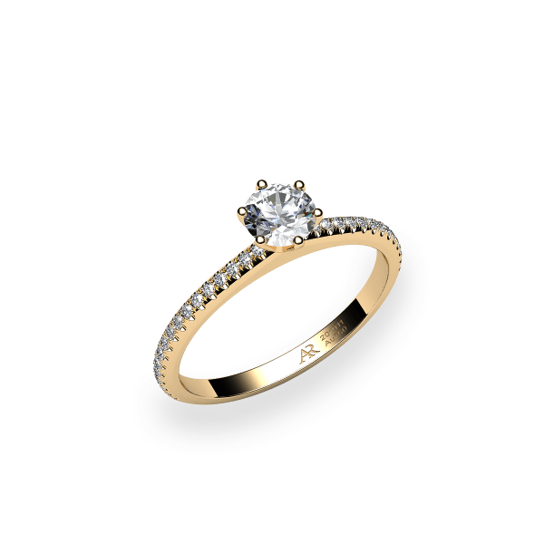 Stella. 6 prongs solitaire yellow gold ring