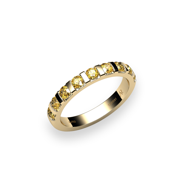 Zayane. 18k gold yellow sapphire wedding ring